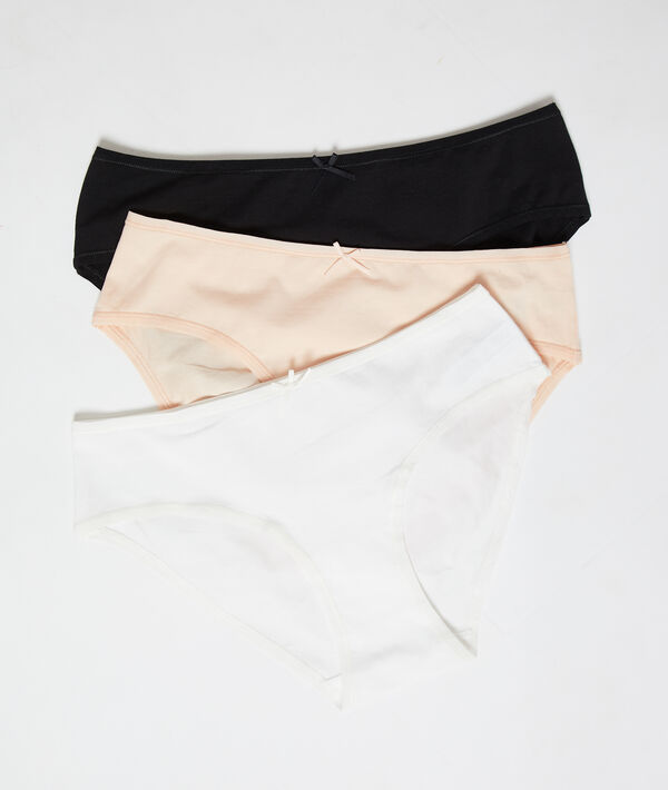 Pack of 3 cotton briefs;${refinementColor}