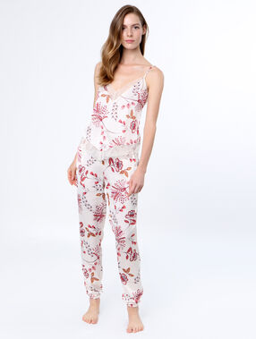 Printed pyjama pants white.