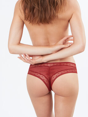 Lace tanga orange.