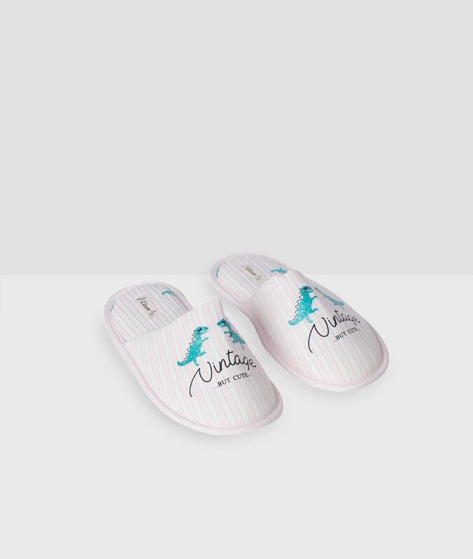 Dino mule slippers pink.