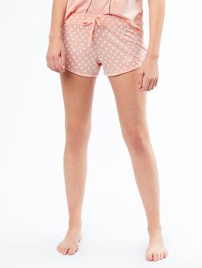Printed pyjamashort pink.