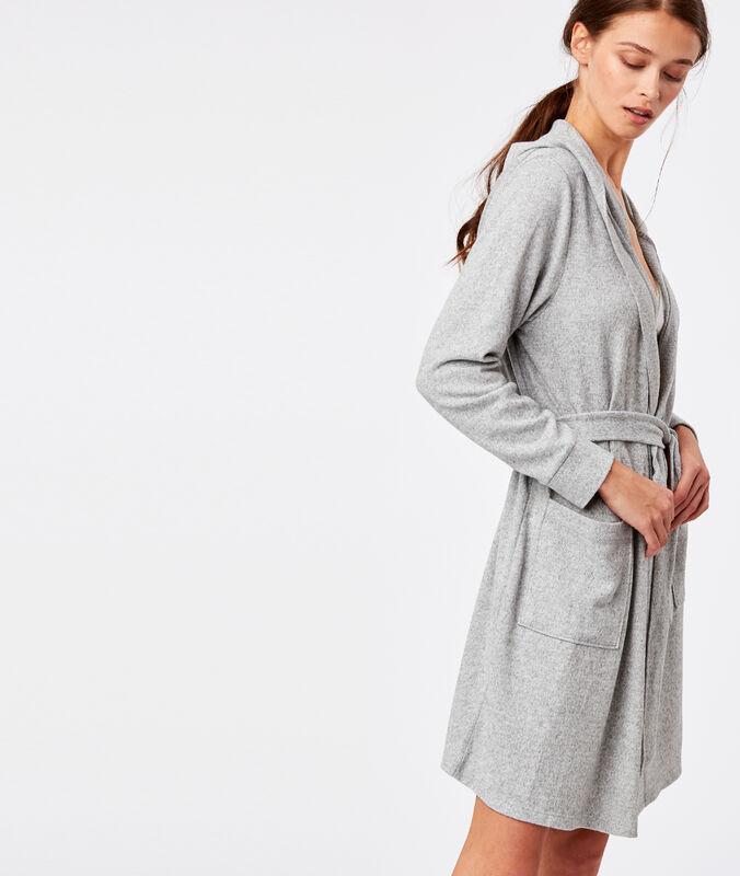 Déshabillé homewear gris.