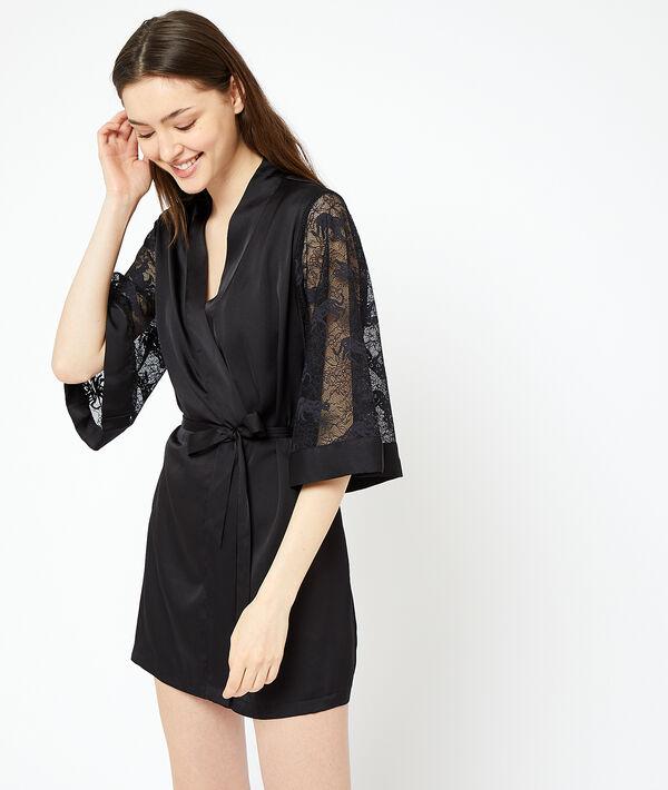 Lace sleeves kimono;${refinementColor}