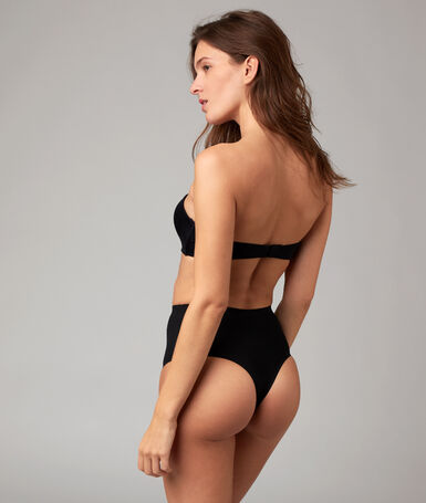 High waist thong: level 3 - figure shaping black.