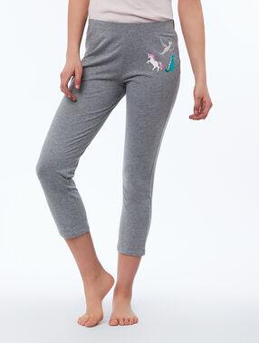 Capri pants gray.