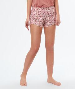Printed pyjama shorts pink.