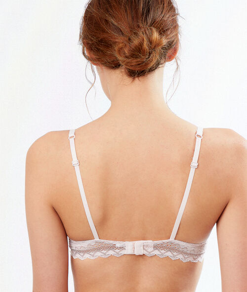 Lace demi-cup padded bra