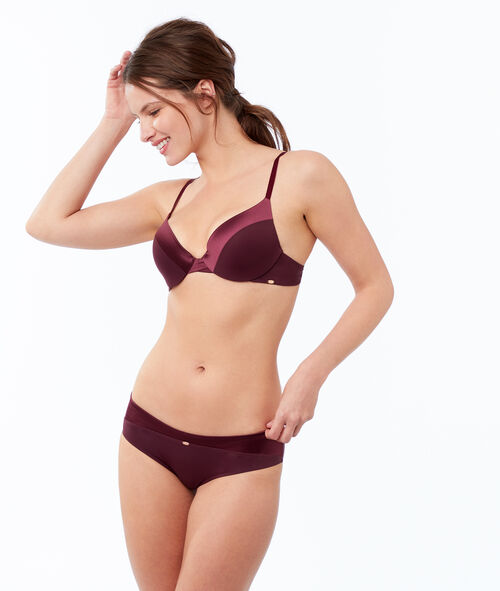 Bra no. 2 - microfiber plunging push-up bra