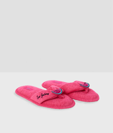 Watermelon slippers pink.