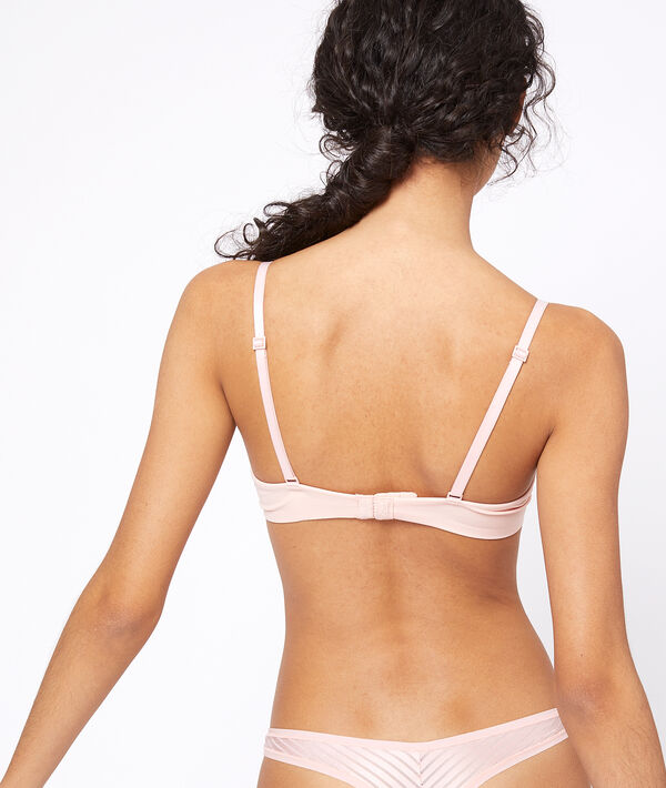 Bra with tulle details;${refinementColor}