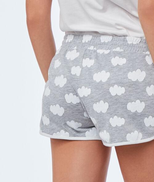 Cloud print shorts