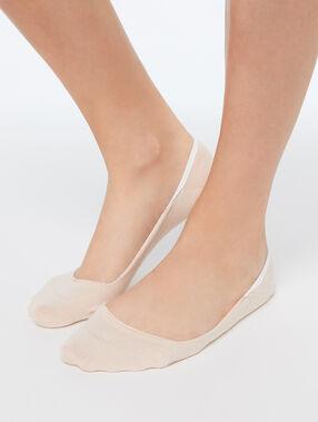 2 pares de calcetines efecto invisible melocotón.