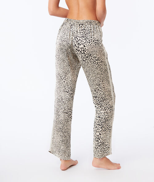 Large leopard print trousers