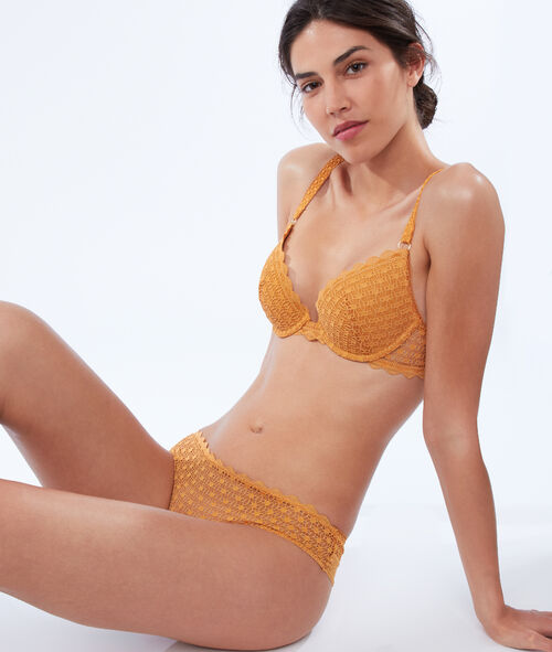 Bra no. 2 - lace plunging push-up bra, double straps