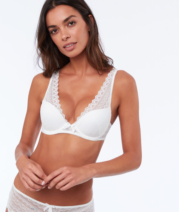 Lace triangle push up