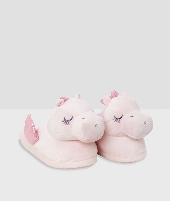 3d dragon slippers pink.