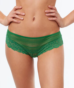 Lace shorts nile green.