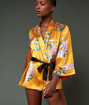 Silk kimono ochre.