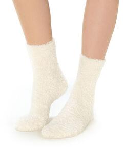 Socks ecru.
