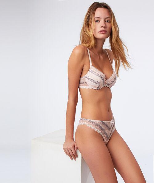 Bra No. 4 - Geometric lace padded bra