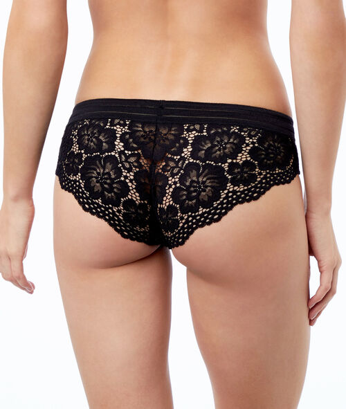 Shorty en dentelle florale