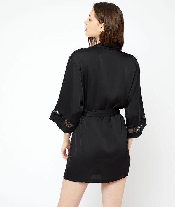 Lace detailing kimono;${refinementColor}