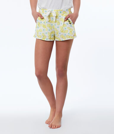 Lemon print shorts yellow.