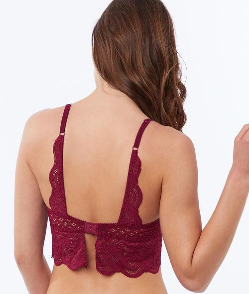 Bra No. 2 - lace plunging push-up bra, openwork basque