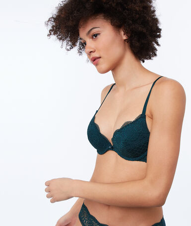 Bra no. 2 - lace plunging push-up bra fir.