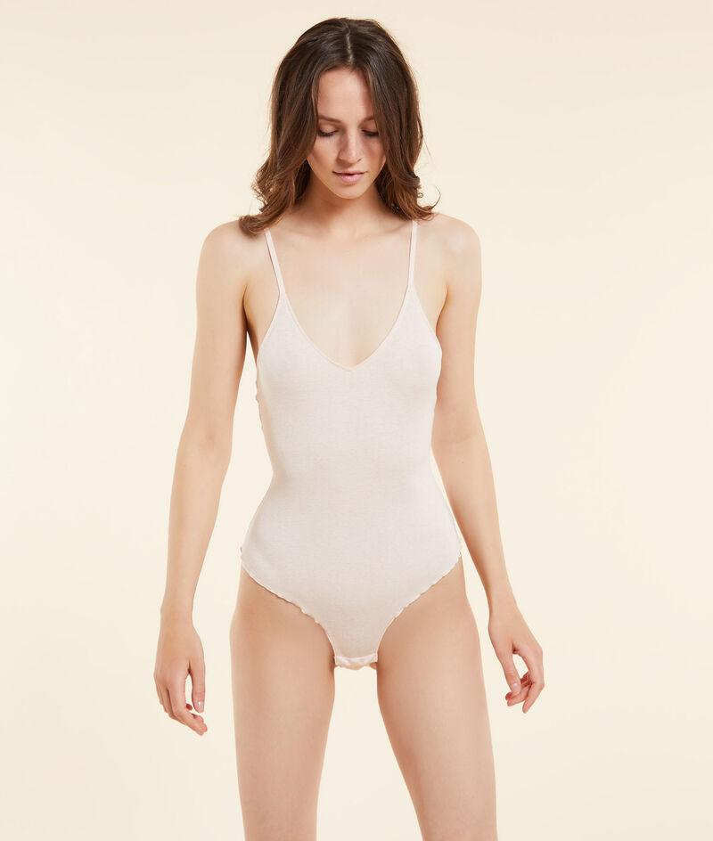 Ribbed bodysuit, plant dye;${refinementColor}