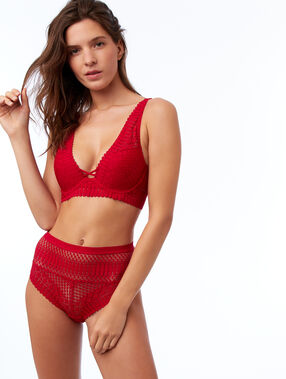 Bra n°3 - the charming triangle dentelle red.