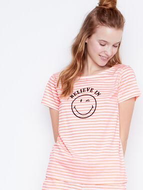 Smiley printed top orange.