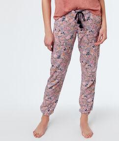 Printed pyjamapants pink.