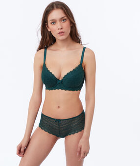 Bra no. 4 - lace classic padded bra fir.