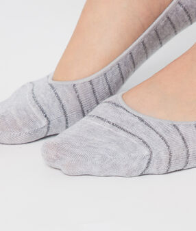 2-pair invisible socks grey/beige.