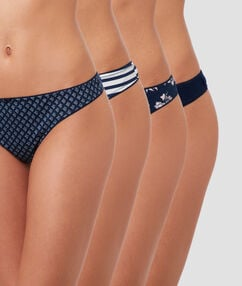 Pack of 4 thongs navy.