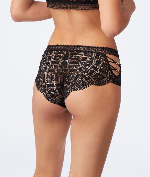 High waisted lace short briefs