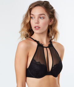 Bra no. 3 - push-up triangle bra black.