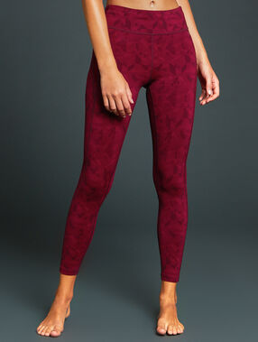 7/8 sport pants burgundy.