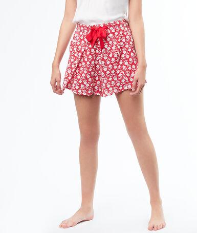 Printed pyjamashort rose.