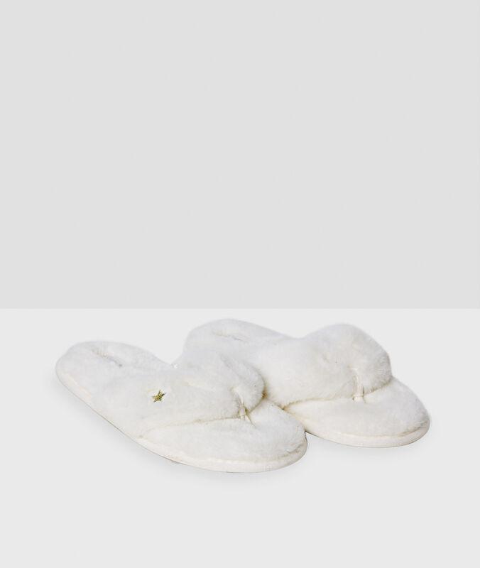 Pantofole bianco.