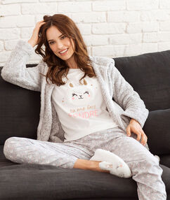 3 pieces pyjama ecru.