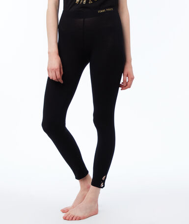 Leggings black.