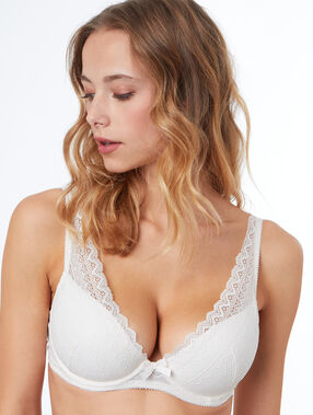 Bra no. 6 - padded triangle bra ecru.