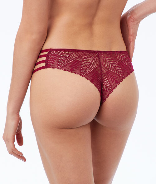 Lace cheeky, ties on the side