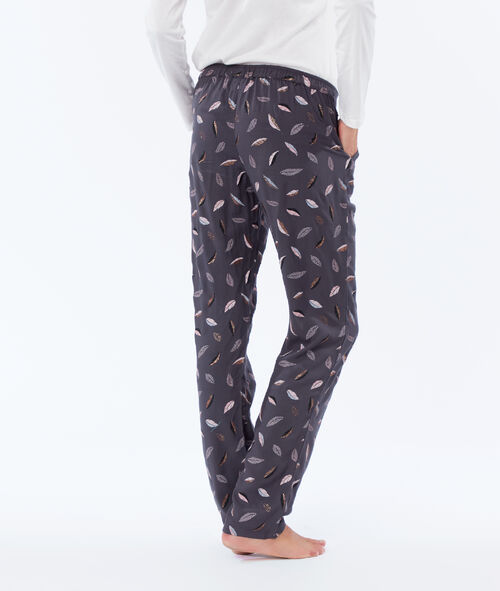 Three-piece owl print pyjama set