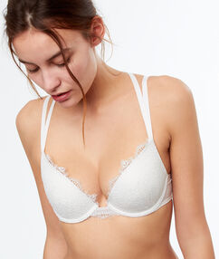 Lace push up bra off-white.