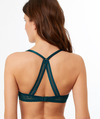 Bra n°6 - the natural triangle bra green.