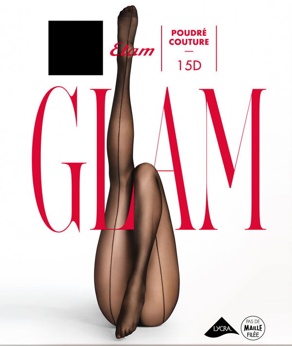 sheer tights 15D with a back seam