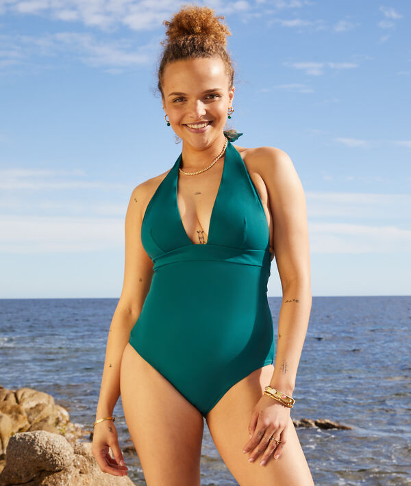 Non-wired one-piece shapewear swimsuit;${refinementColor}